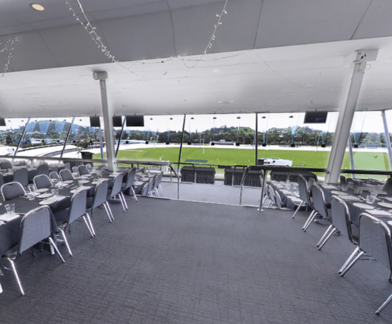 Top of the park setup for a business event or meeting room hire