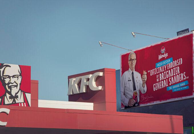 Wendys Billboard in situ xpx