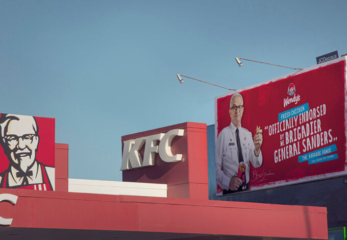 Wendys Billboard in situ xpx