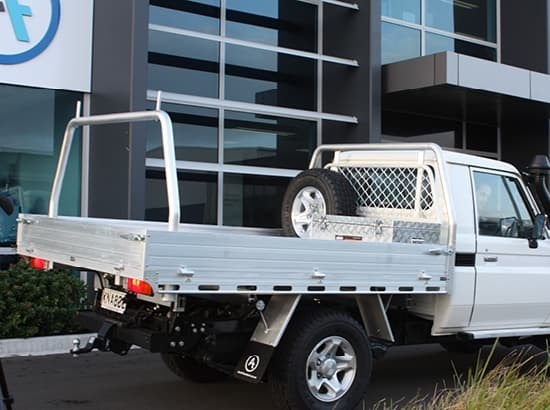 Custom flat deck ute