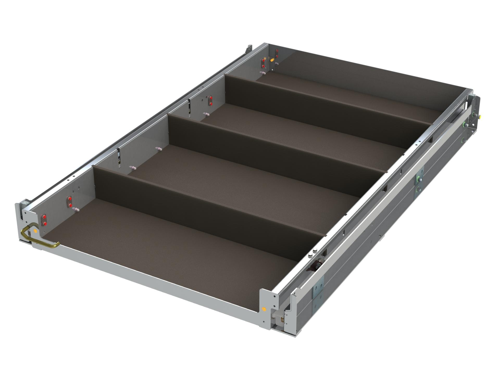 Sliding Tray Unit w x D x H Closed