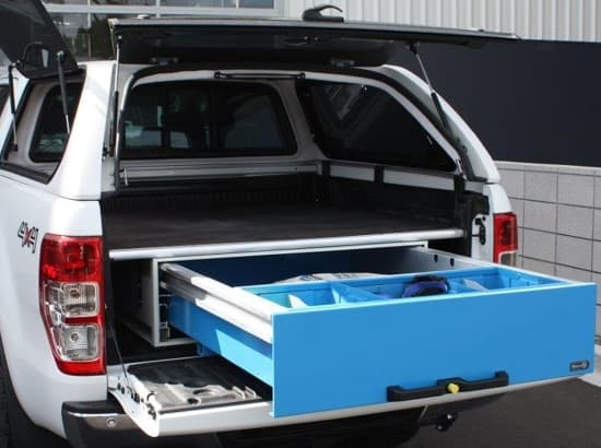Underfloor storage for ute
