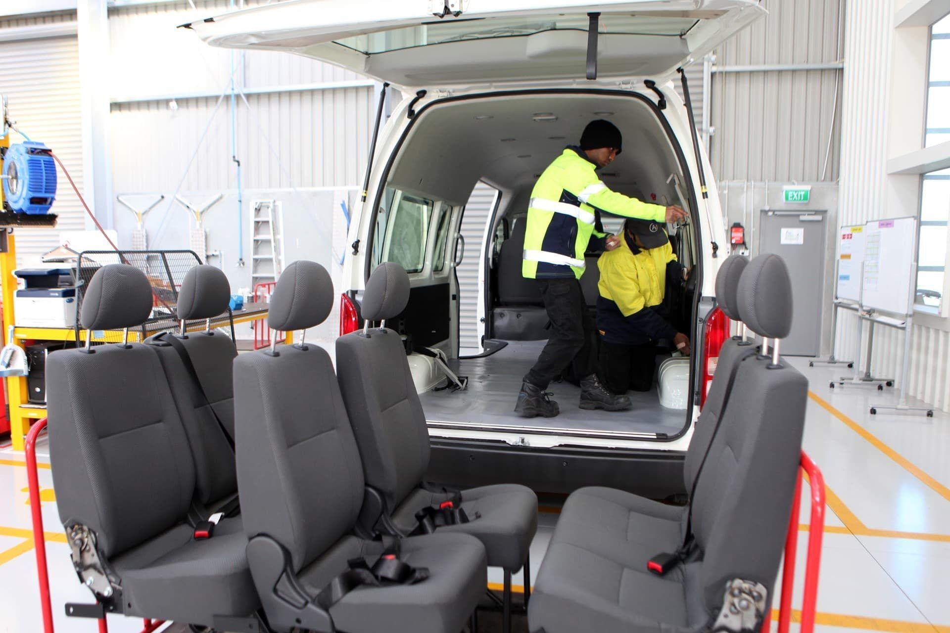 Commercial Fleet Fitout Installing Seats