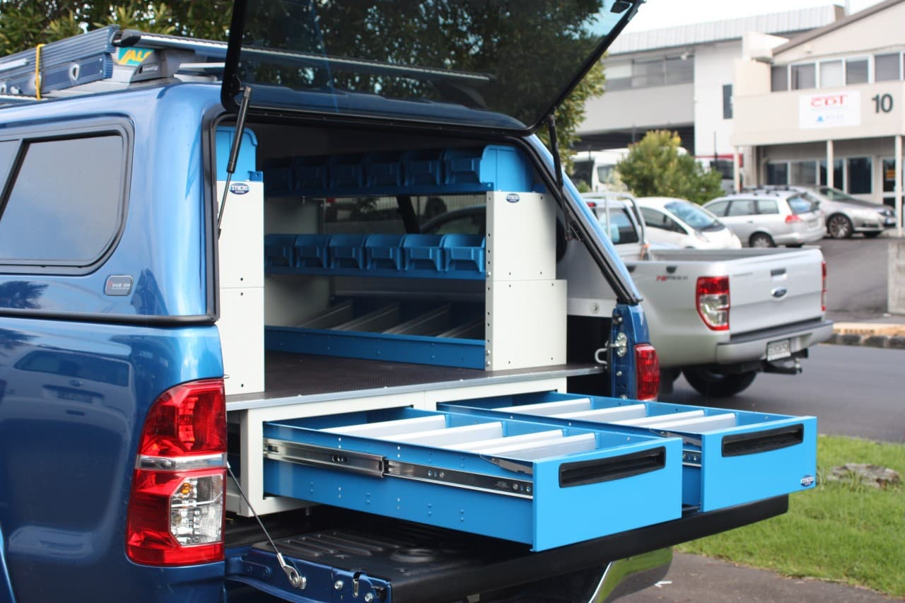 Drawers for commercial ute