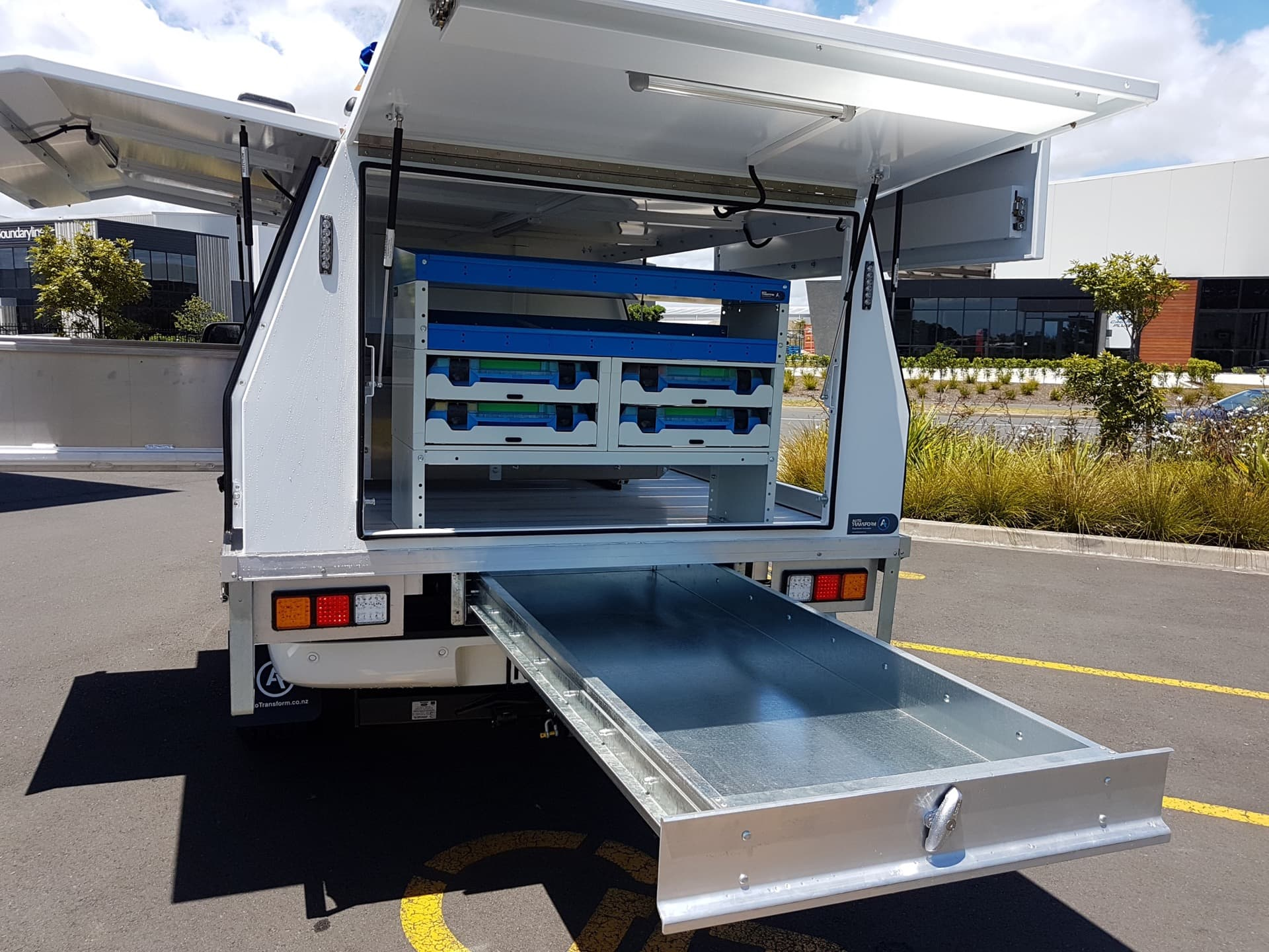 Custom design ute fitout with modular drawer system
