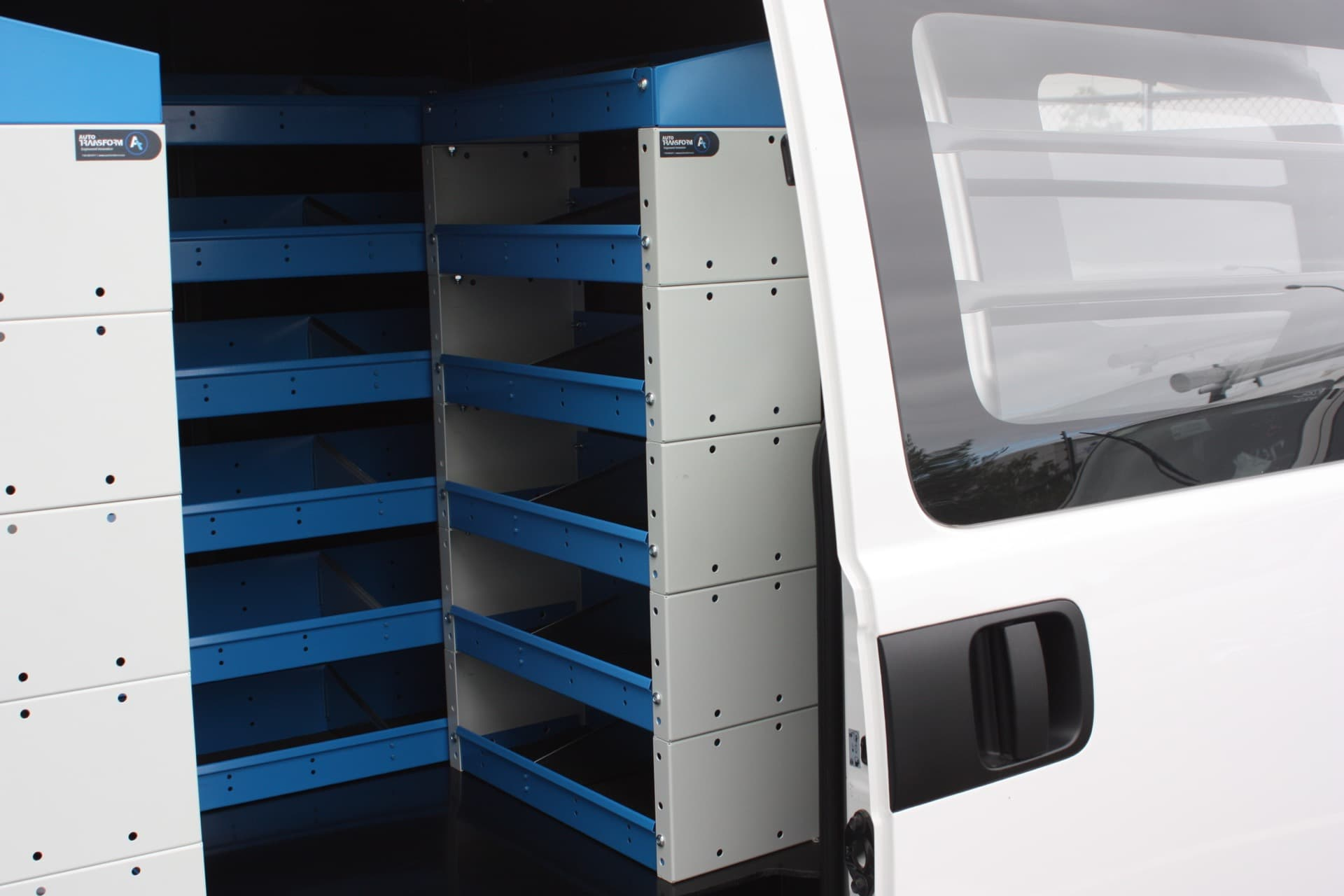 Custom storage system for commercial vans