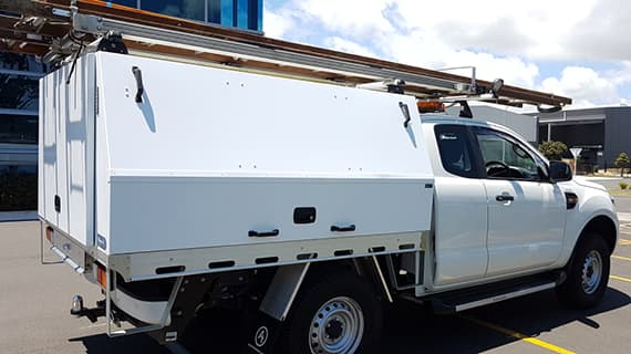 Commercial ute service body fitout