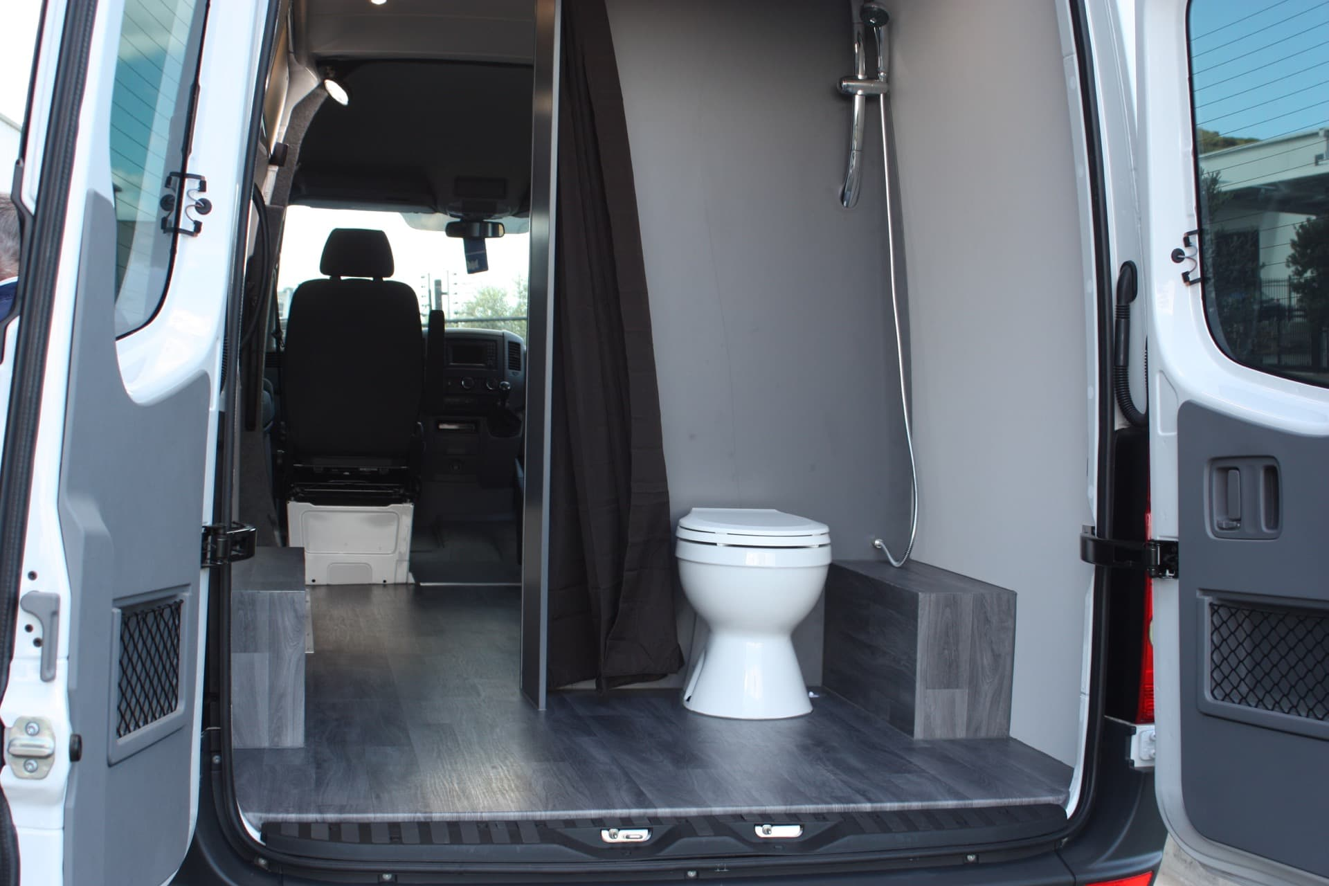 Custom van fitout with toilet