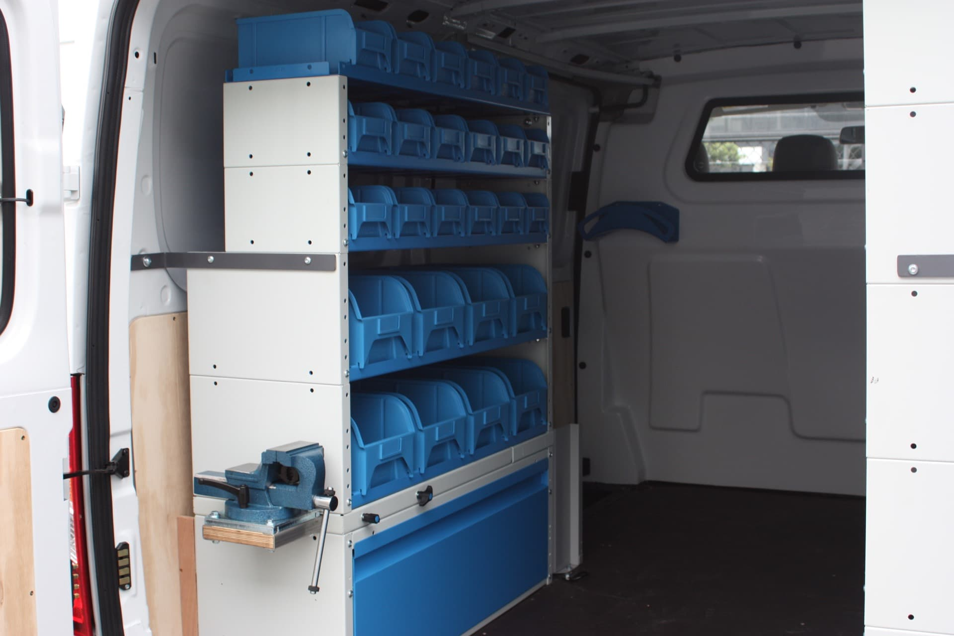 Custom van setup for builders