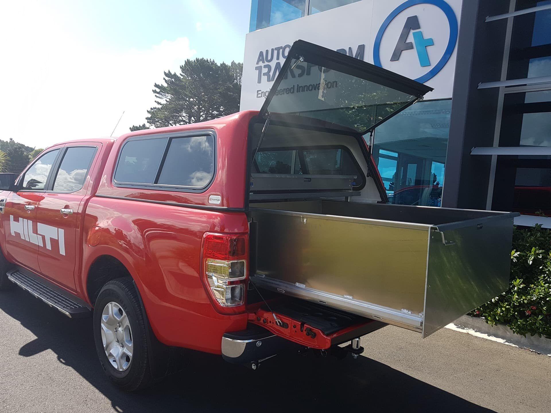 Standardised commercial fitout red van