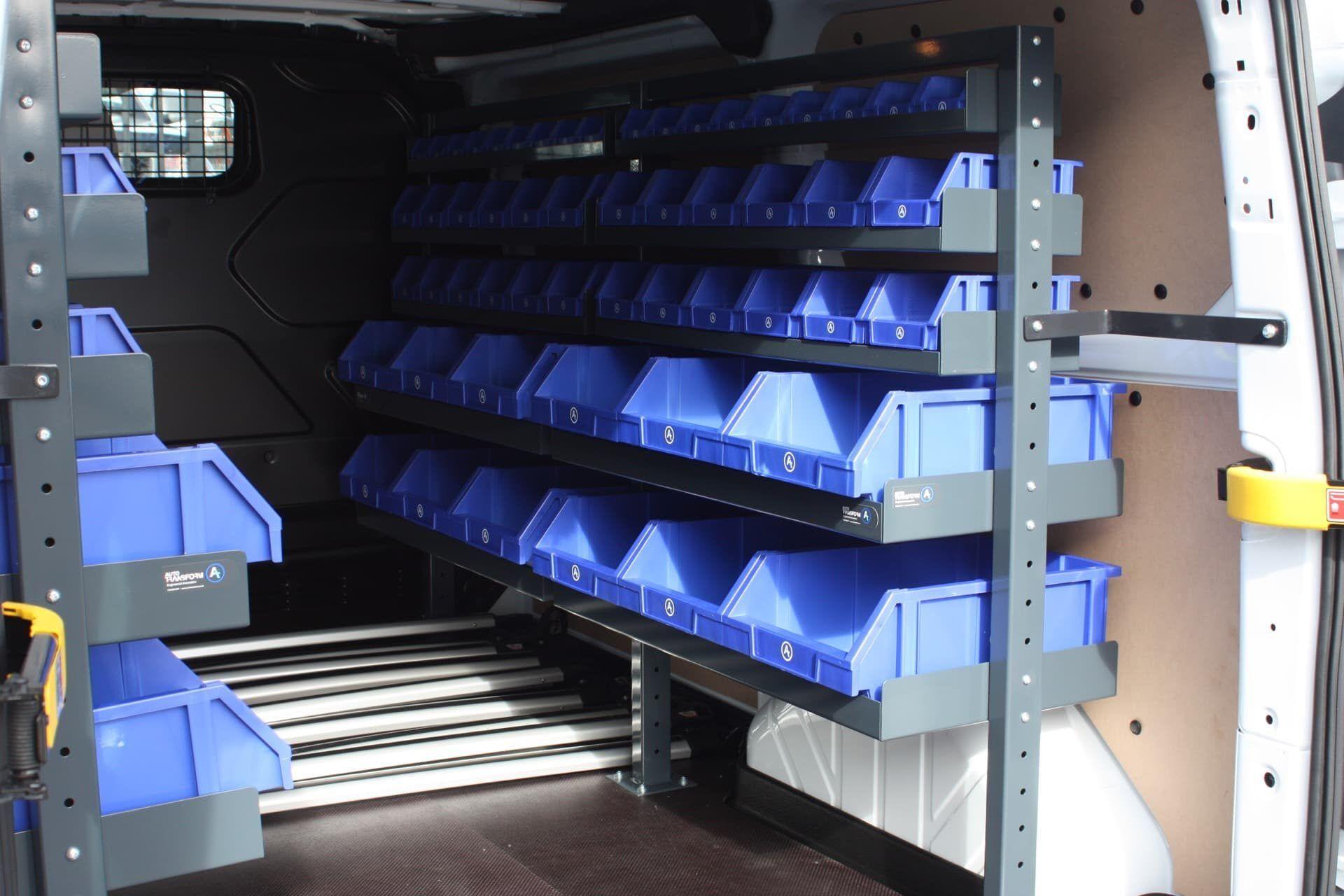 Tool drawers installed in van