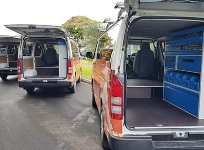Van interior custom fitout