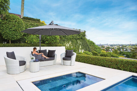 Grey Cantilever Umbrella NZ