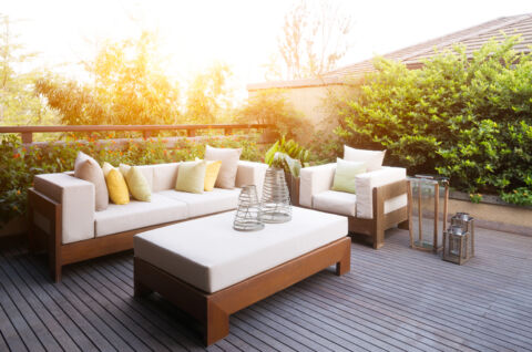 elegant furniture and design in modern patio x x