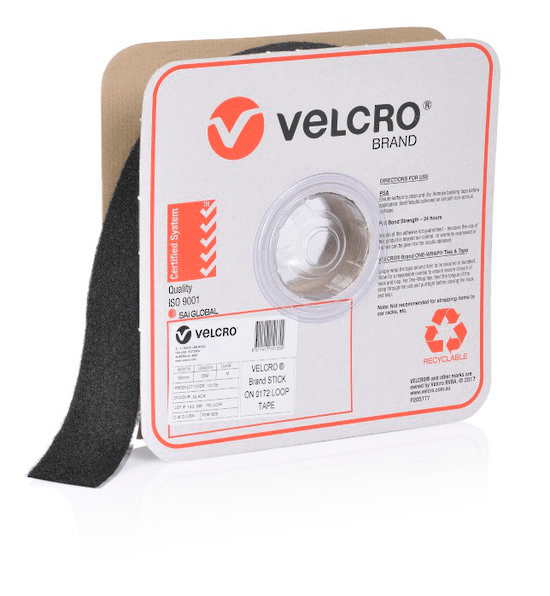velcro brand self adhesive loop mm black roll