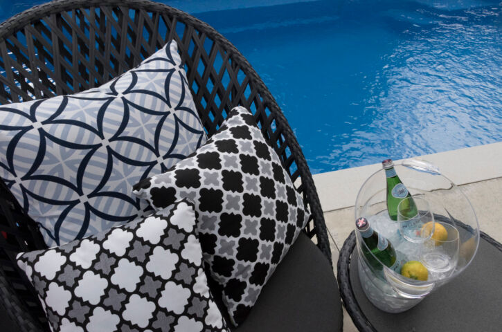Cushions on Chair by the Pool