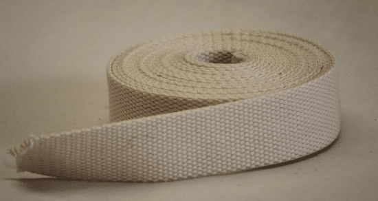 cotton pebbleweave webbing mm