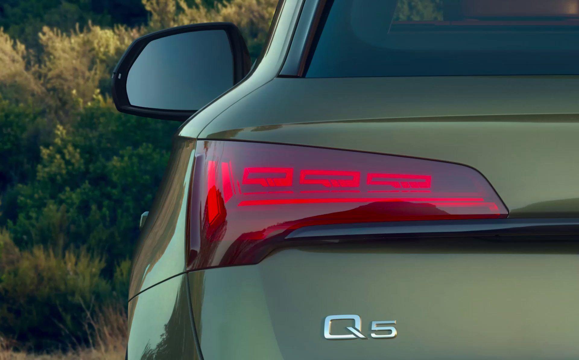 audi q rear light closeup