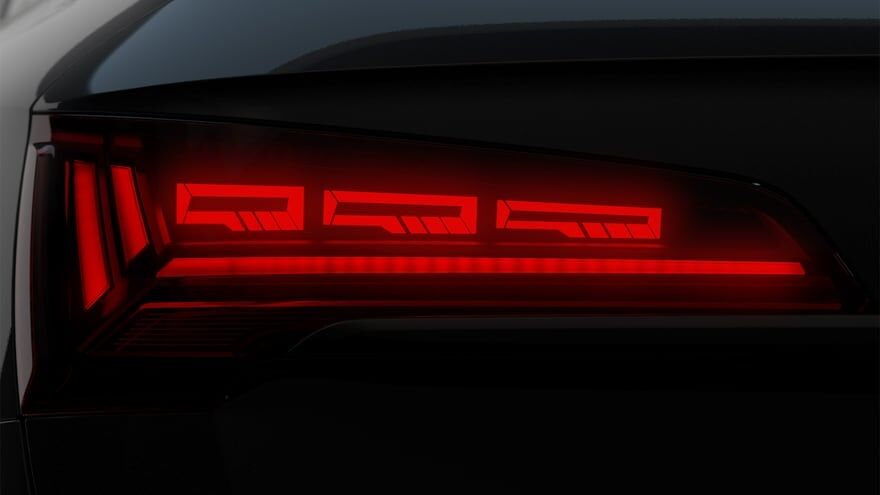 audi sq tail light signature