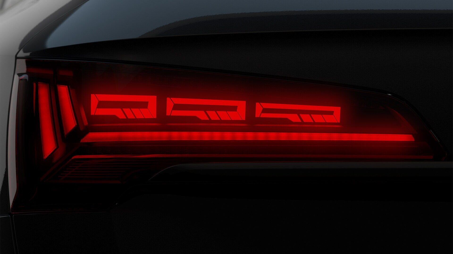 audi q sportback my back rear light