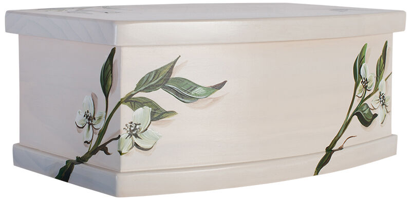 Solid Pine Urn Painted