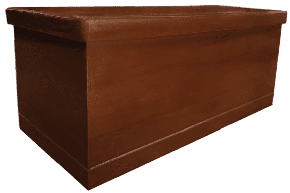Solid pine urn Hickory