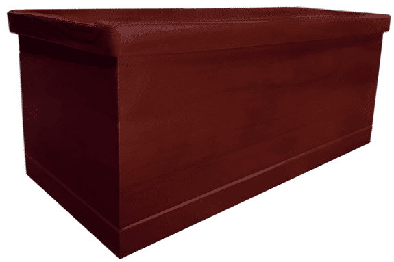 Solid pine urn rosewood