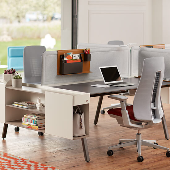 products intuity benching with fern desk chair
