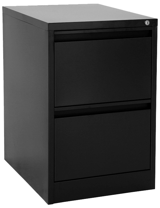 products proceed filing cabinet 2drawer black