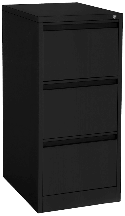 products proceed filing cabinet 3drawer black