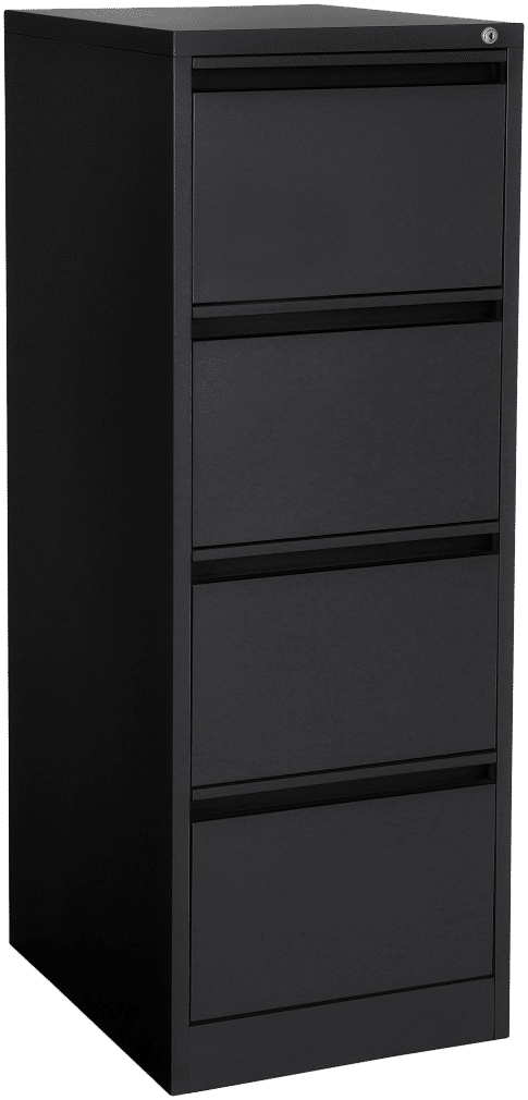 products proceed filing cabinet 4drawer black