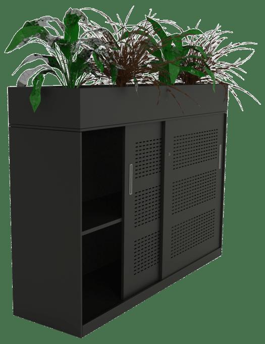 products slider black side open planter
