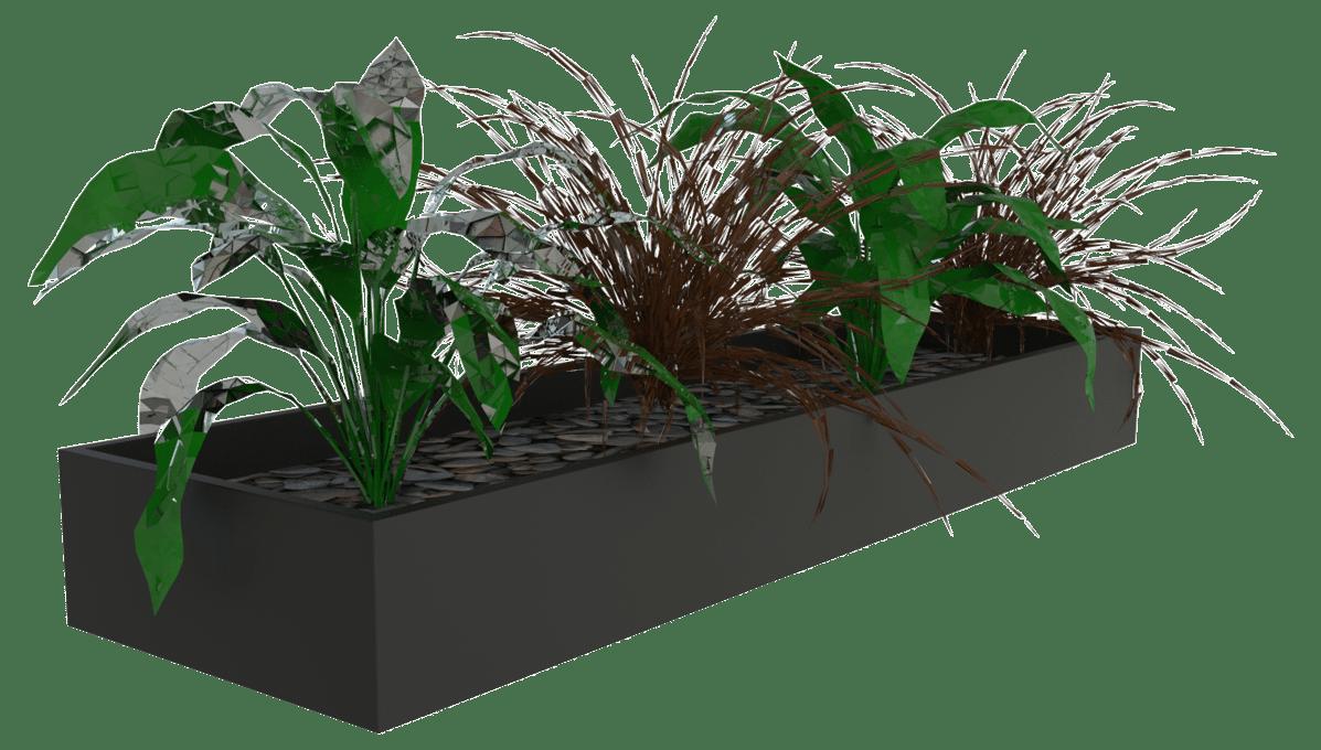 products slider planter box black