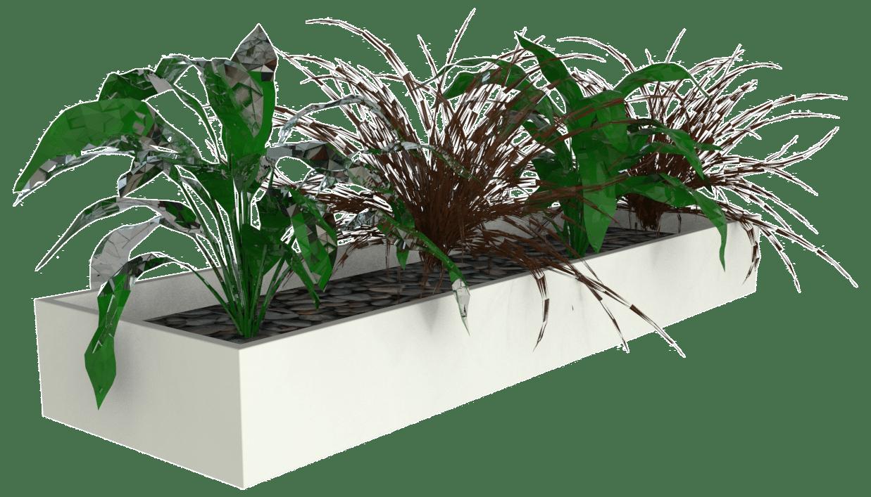 products slider planter box white