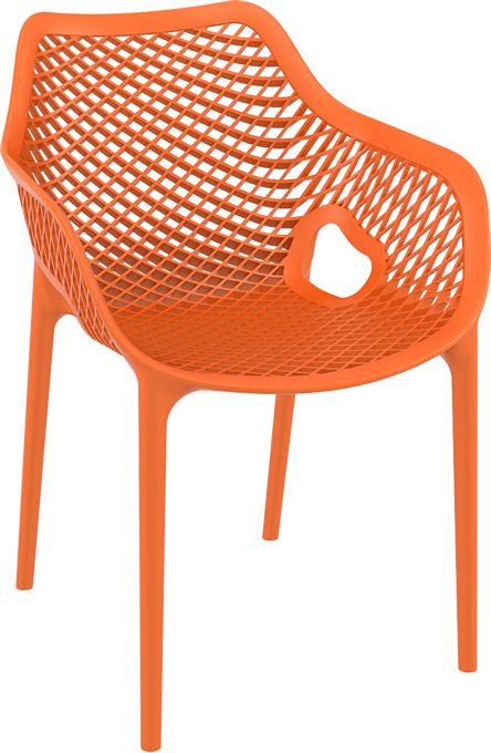 products oxygen chair arms orange