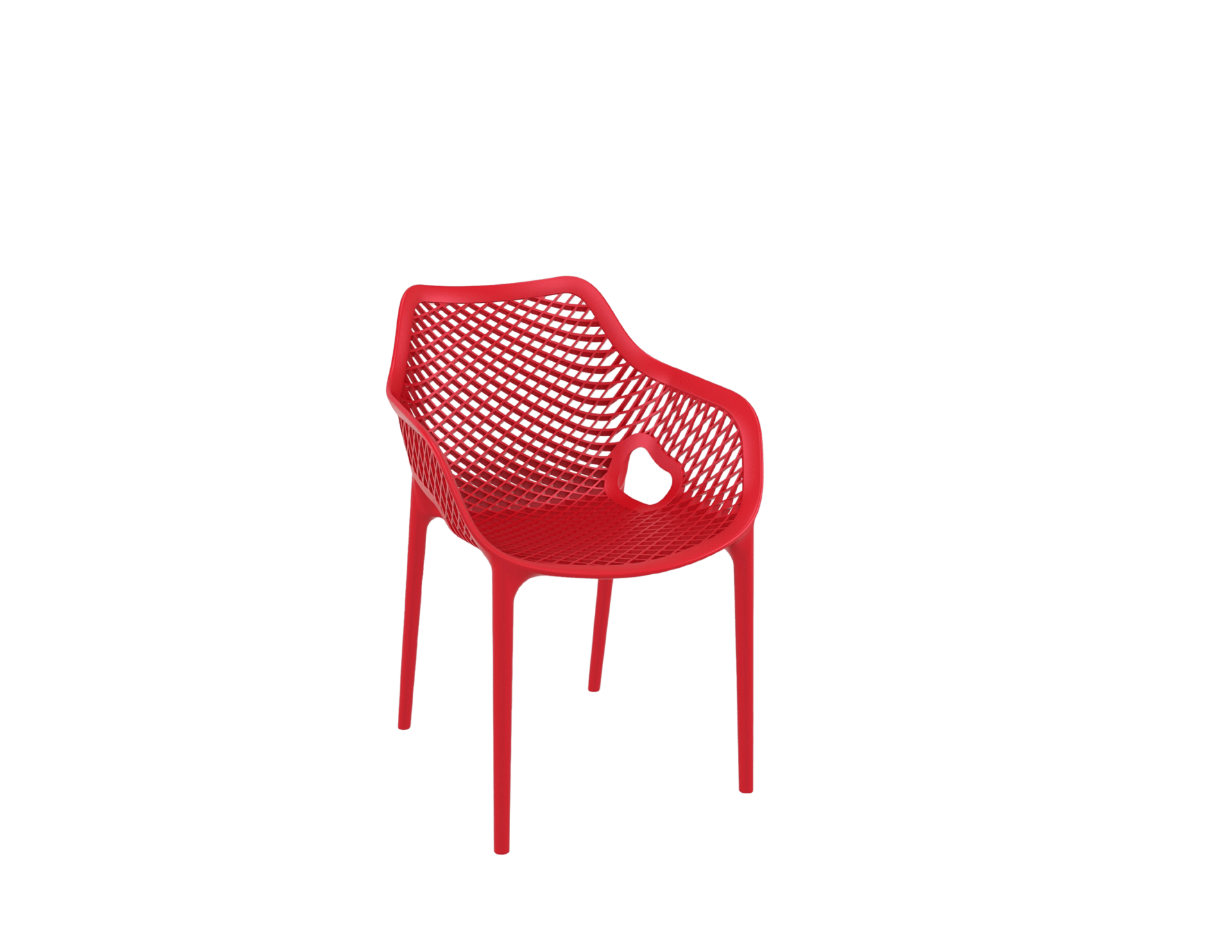 products oxygen chair arms red