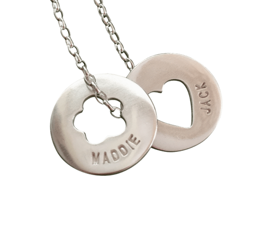 Heart Centre Name Disc Necklace