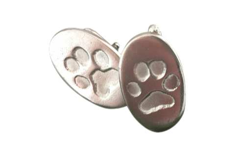 Pet Paw Prints Oval Cufflinks