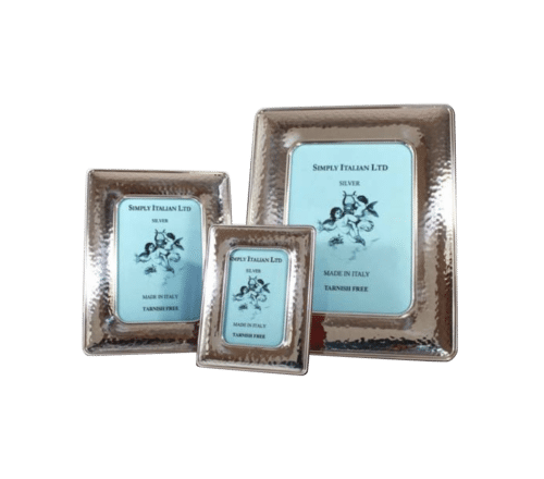 Textured Silver Italian Photo Frame 1 2