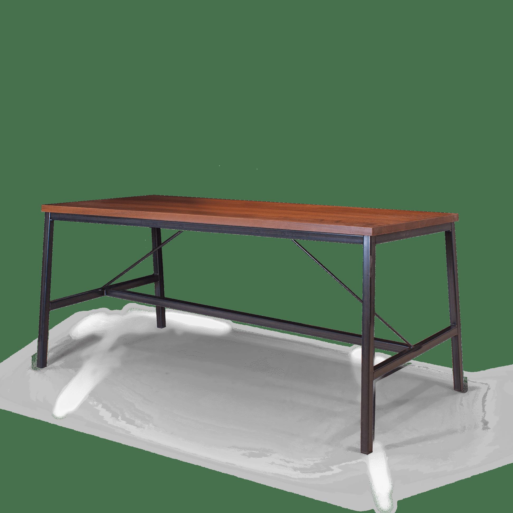 TB Fero Table Walnut on Clear web