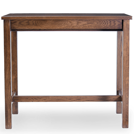 LE Chicago Leaner medium front stained walnut