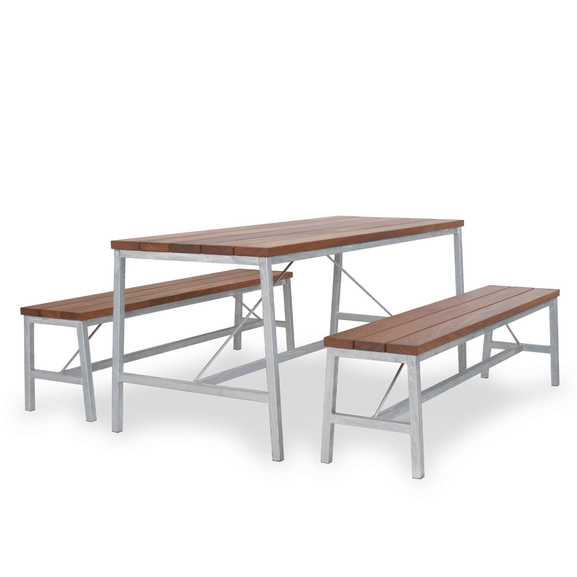 TB Extant Table Galv Bench Setting  web
