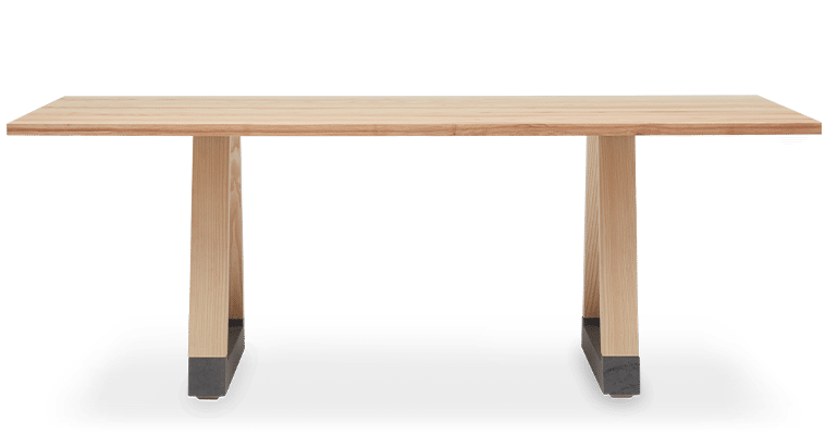 TB Slab Table Clear Front