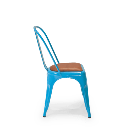 CH Harbour Chair blue brown uphol