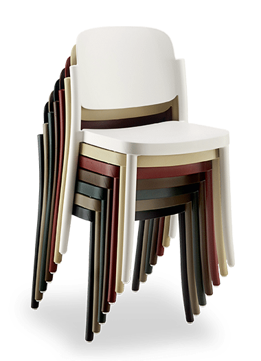 CH Piazza Chair stacked