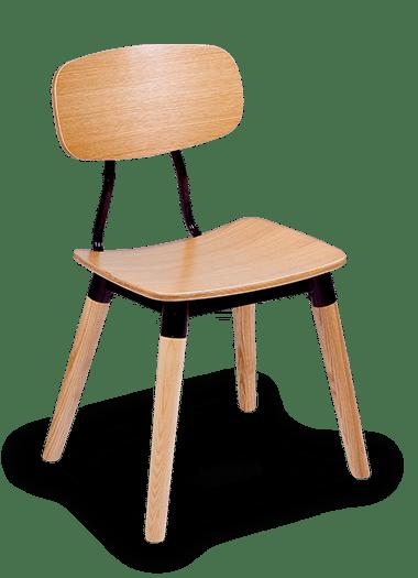 CH Reuben Chair Ash Legs Cafe Chair Steel Chair Dining Chair hospo
