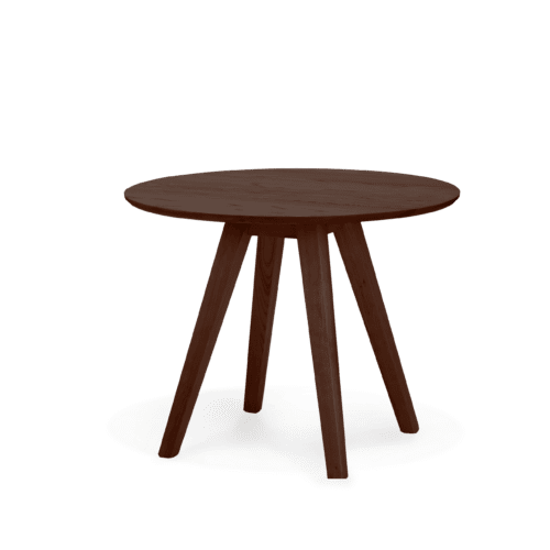 TB Ikon Trestle Table Round stained walnut