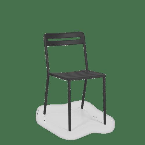 CH C Chair Slatted black