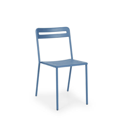 CH C Chair Slatted blue