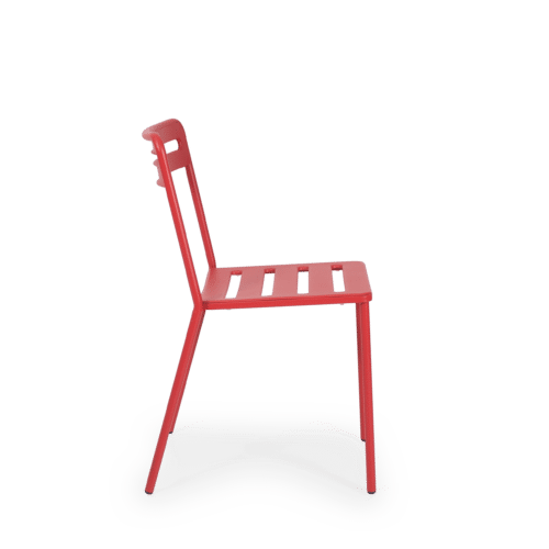 CH C Chair Slatted red side